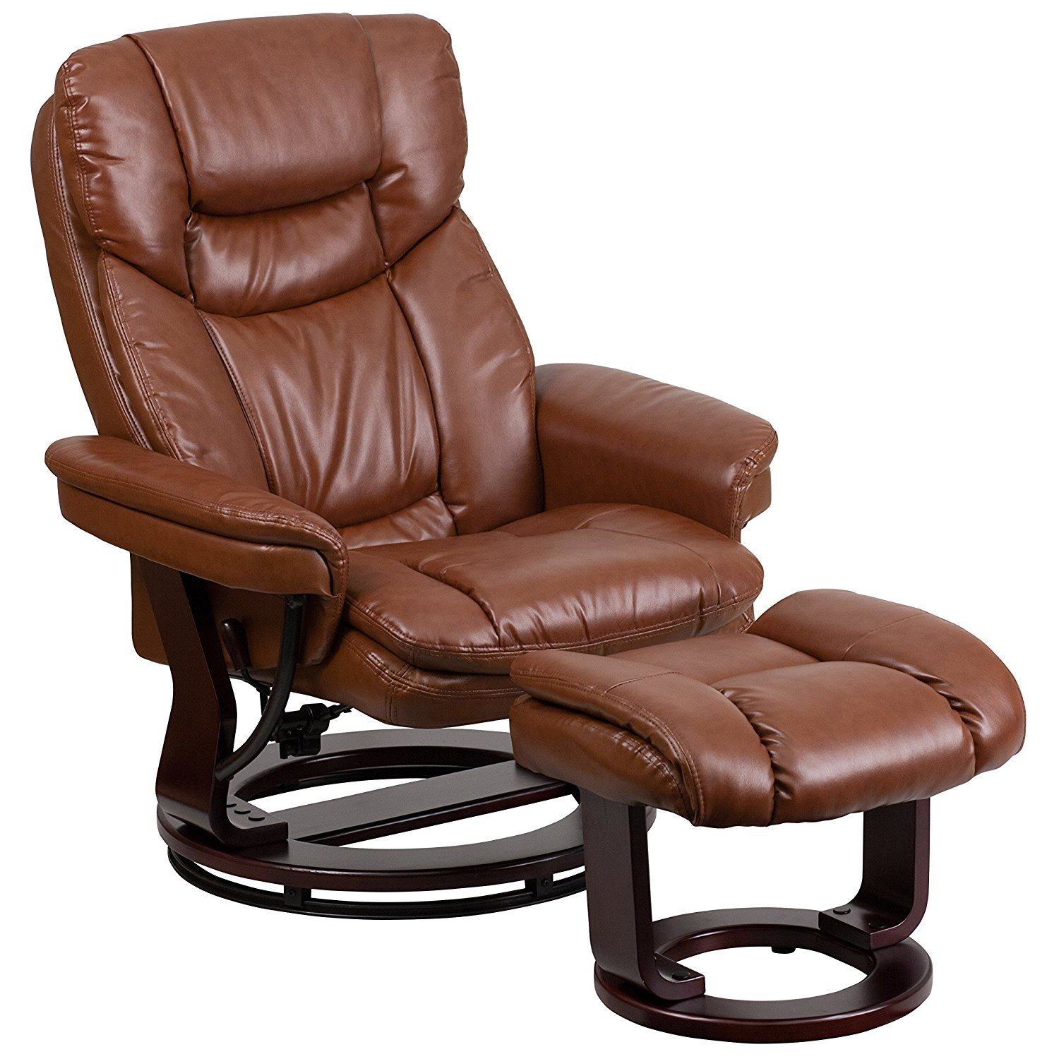 Leather swivel chairs for living room home furniture design for Swivel chairs for living room