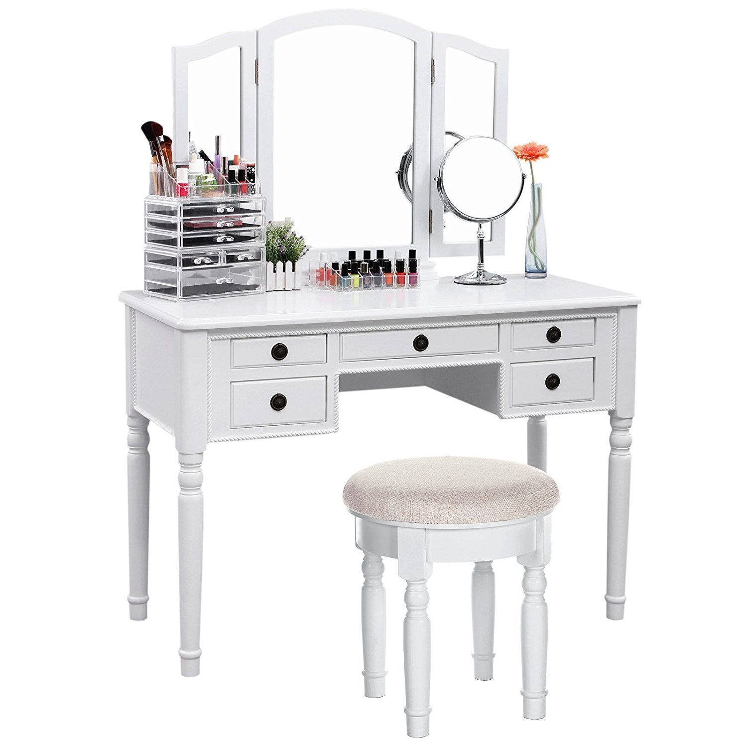 Makeup vanity table home furniture design for Vanity table set