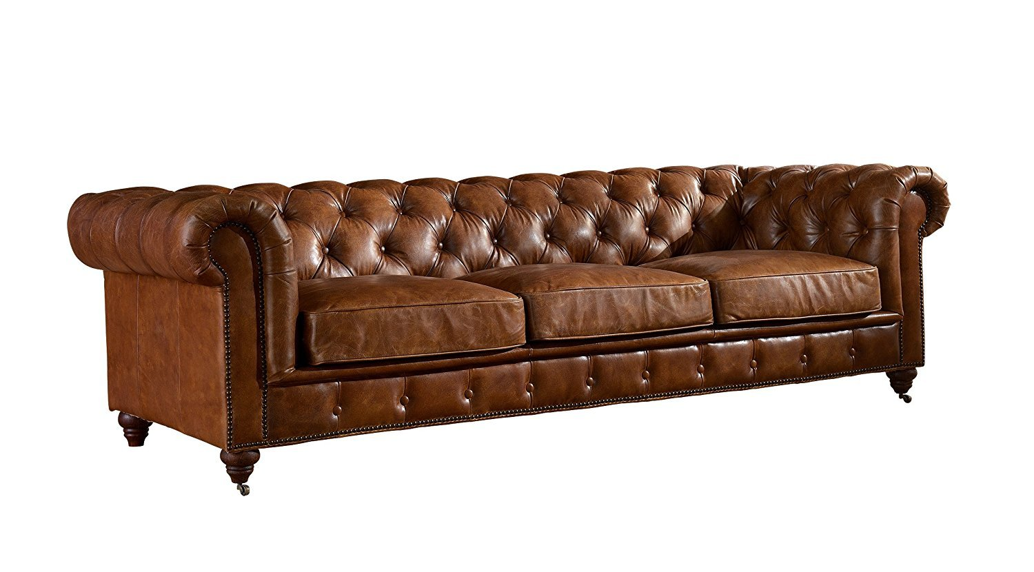 Vintage Leather Couch Home Furniture Design