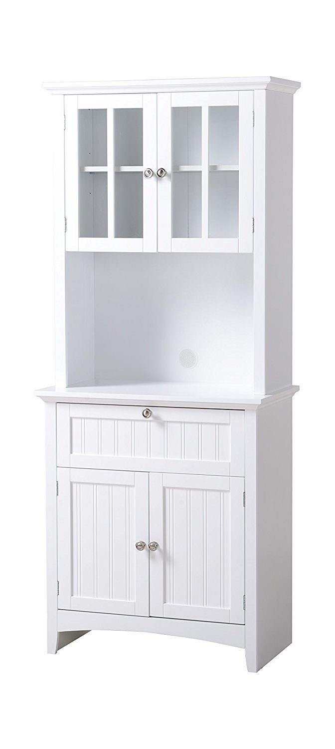 White Kitchen Hutch Cabinet Home Furniture Design