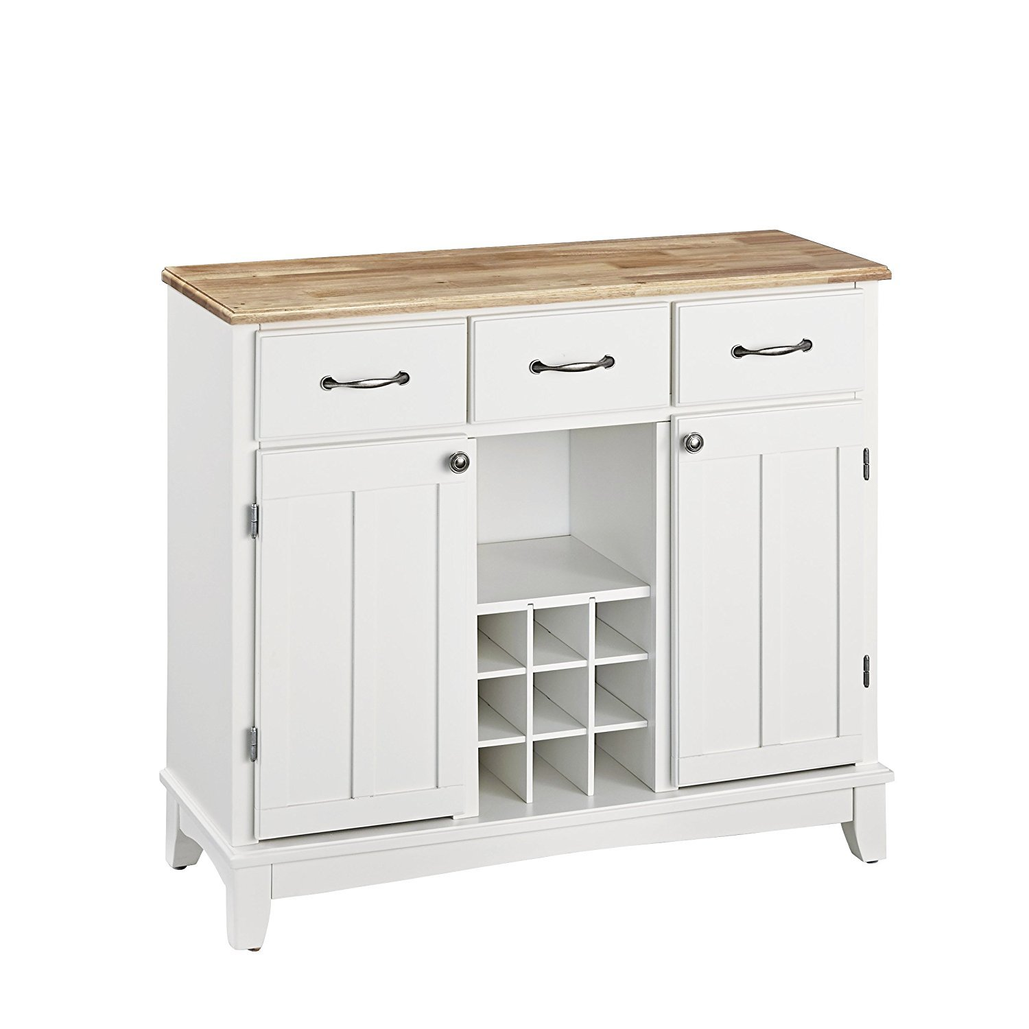 Home Styles White And Natural Buffet With Hutch