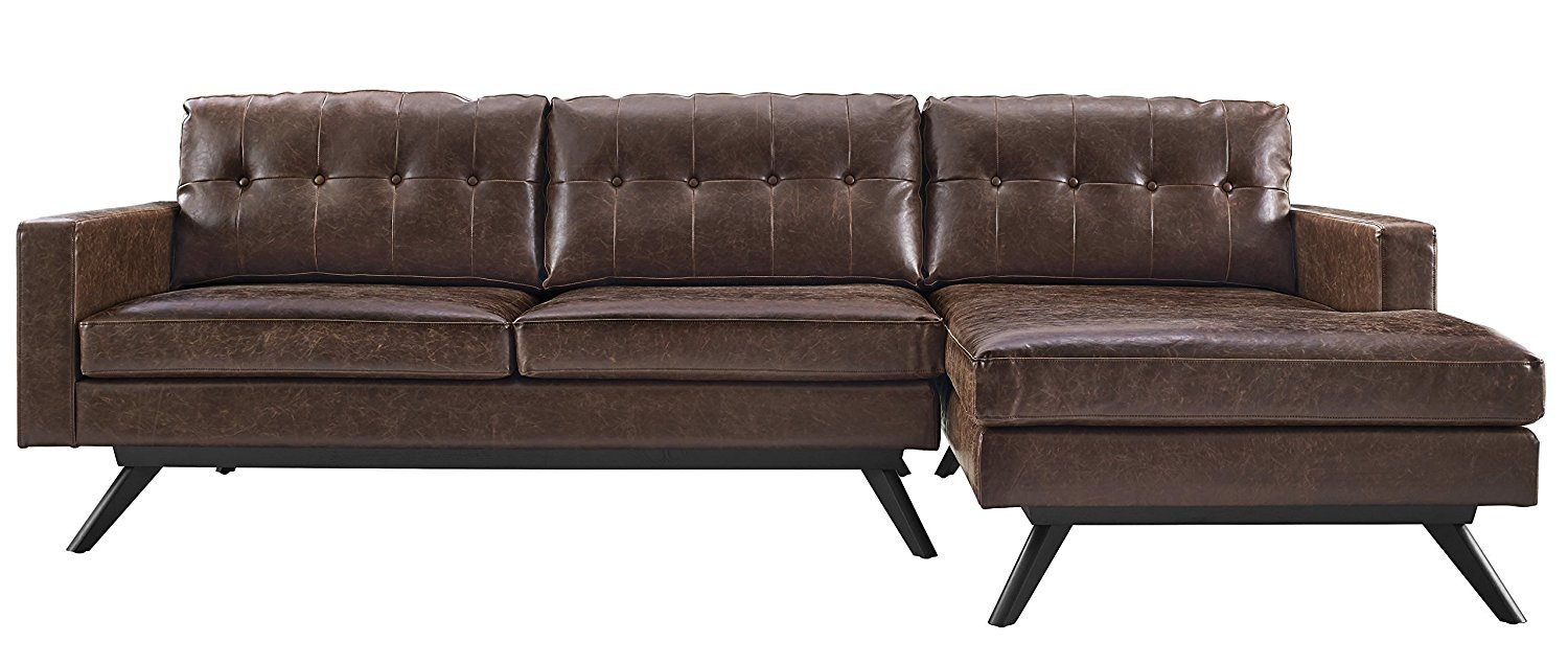 Worn Leather Couch Home Furniture Design
