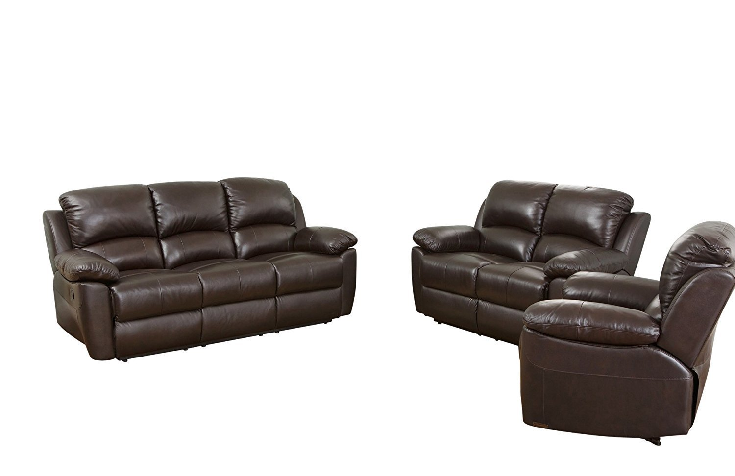 Abbyson Brody Leather Armchair Home Furniture Design