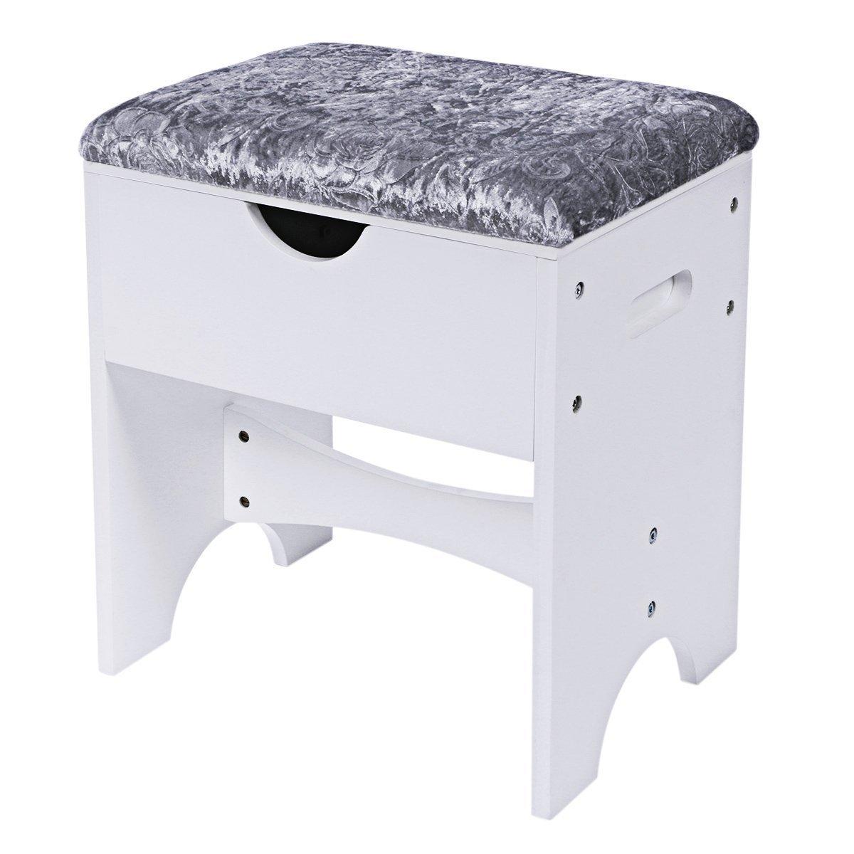Bewishome Vanity Stool Piano Seat Makeup Bench Home