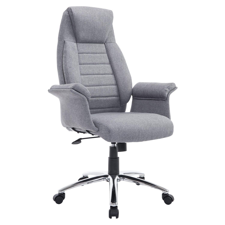 homcom high back fabric executive office chair home furniture design. Black Bedroom Furniture Sets. Home Design Ideas
