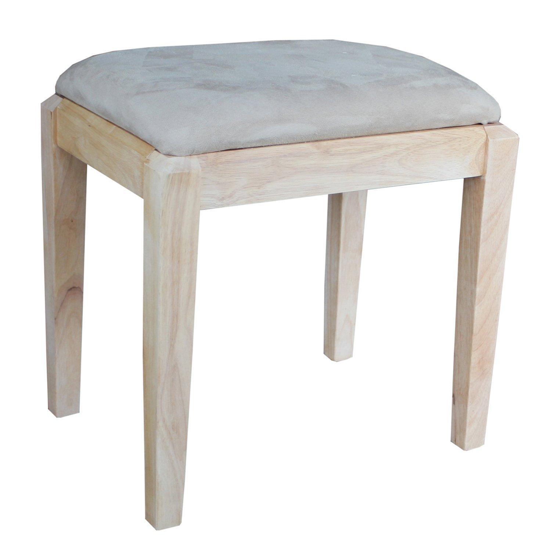 International Concepts Unfinished Vanity Bench Home Furniture Design