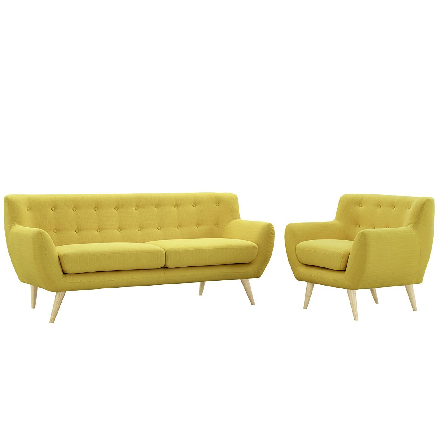 Modway remark mid century modern sofa and armchair home for Mid century modern living room furniture arrangement