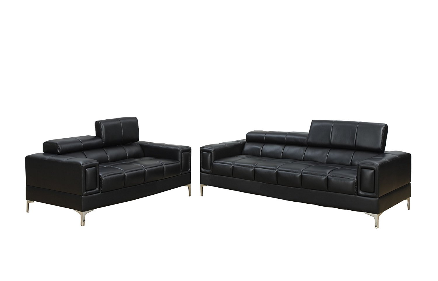 Poundex Bobkona Sierra Bonded 2 Piece Sofa And Loveseat Set Home Furniture Design