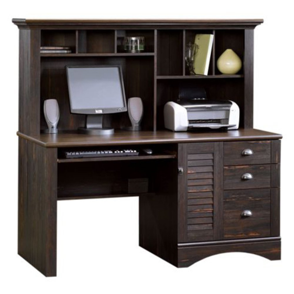 Wood Computer Desk With Hutch Home Furniture Design