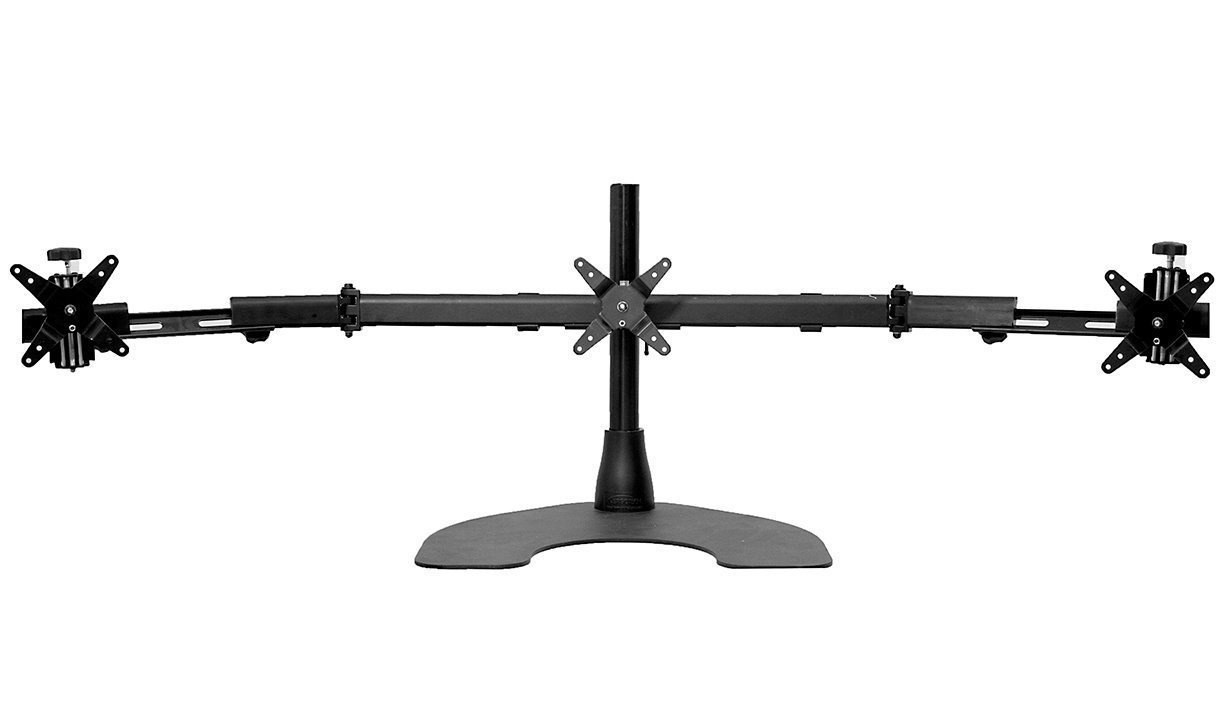 Ergotech Triple Desk Stand With Telescopic Wings Home