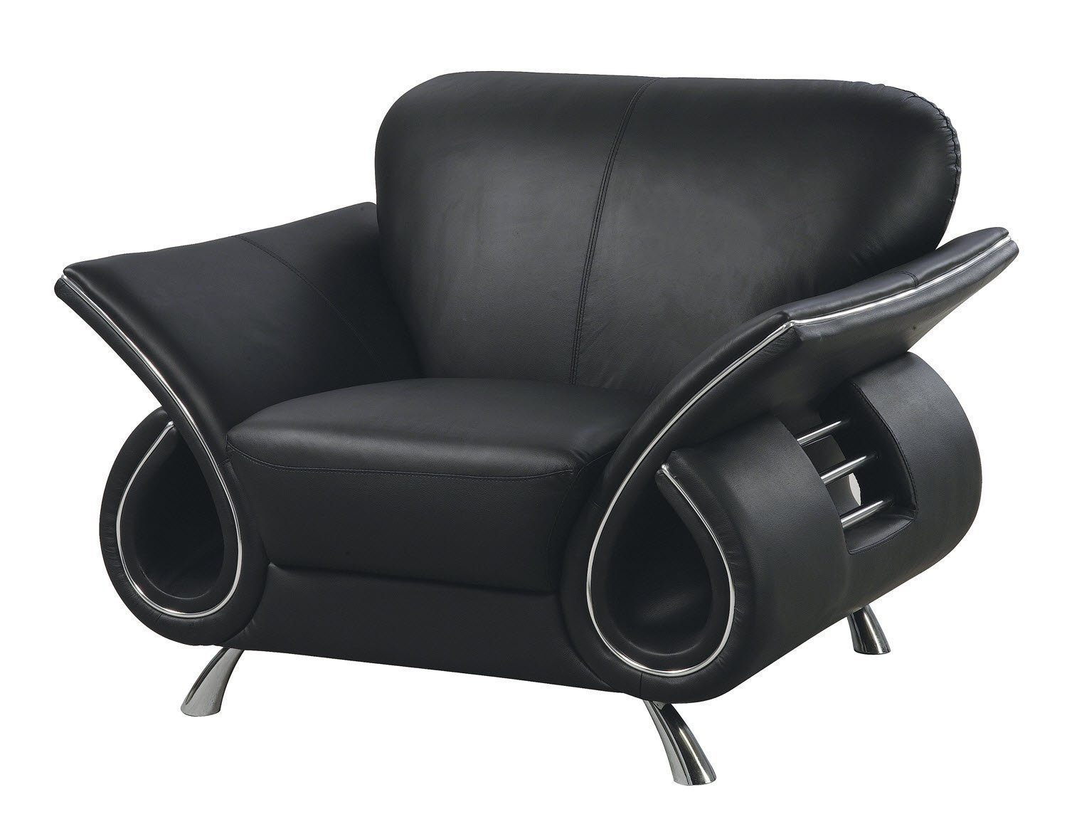 Global Furniture Clark Collection Leather Matching Chair