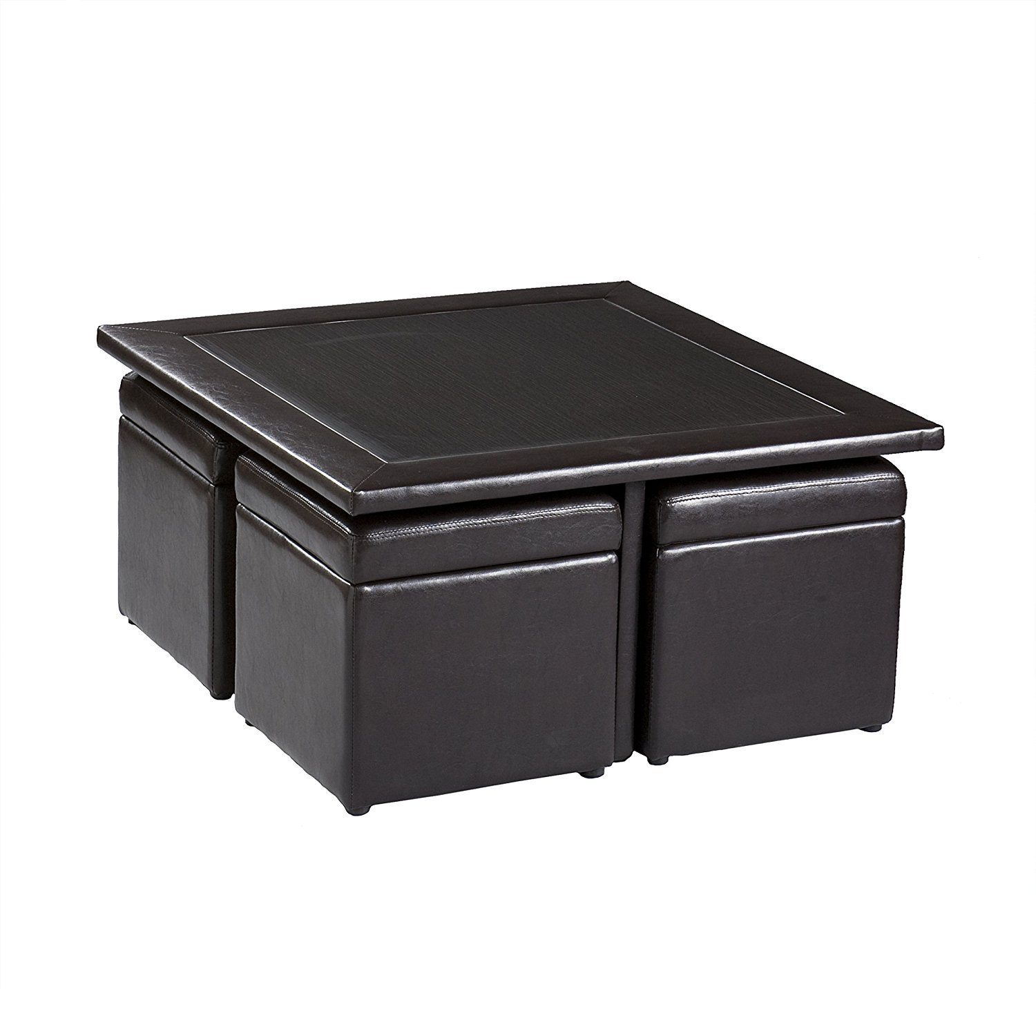 Leather Coffee Table With Storage Home Furniture Design