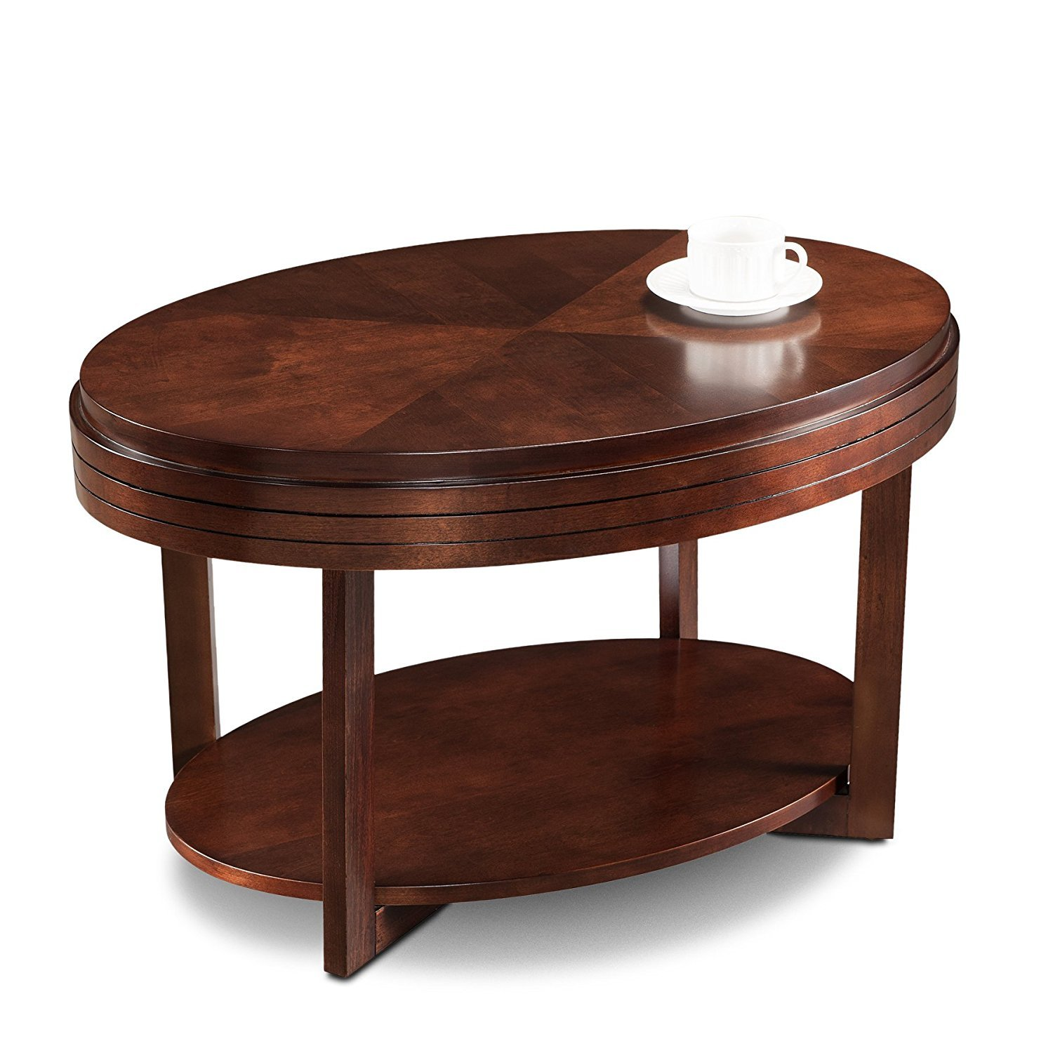 Oval Coffee Table Plans: Oval Coffee Table With Storage