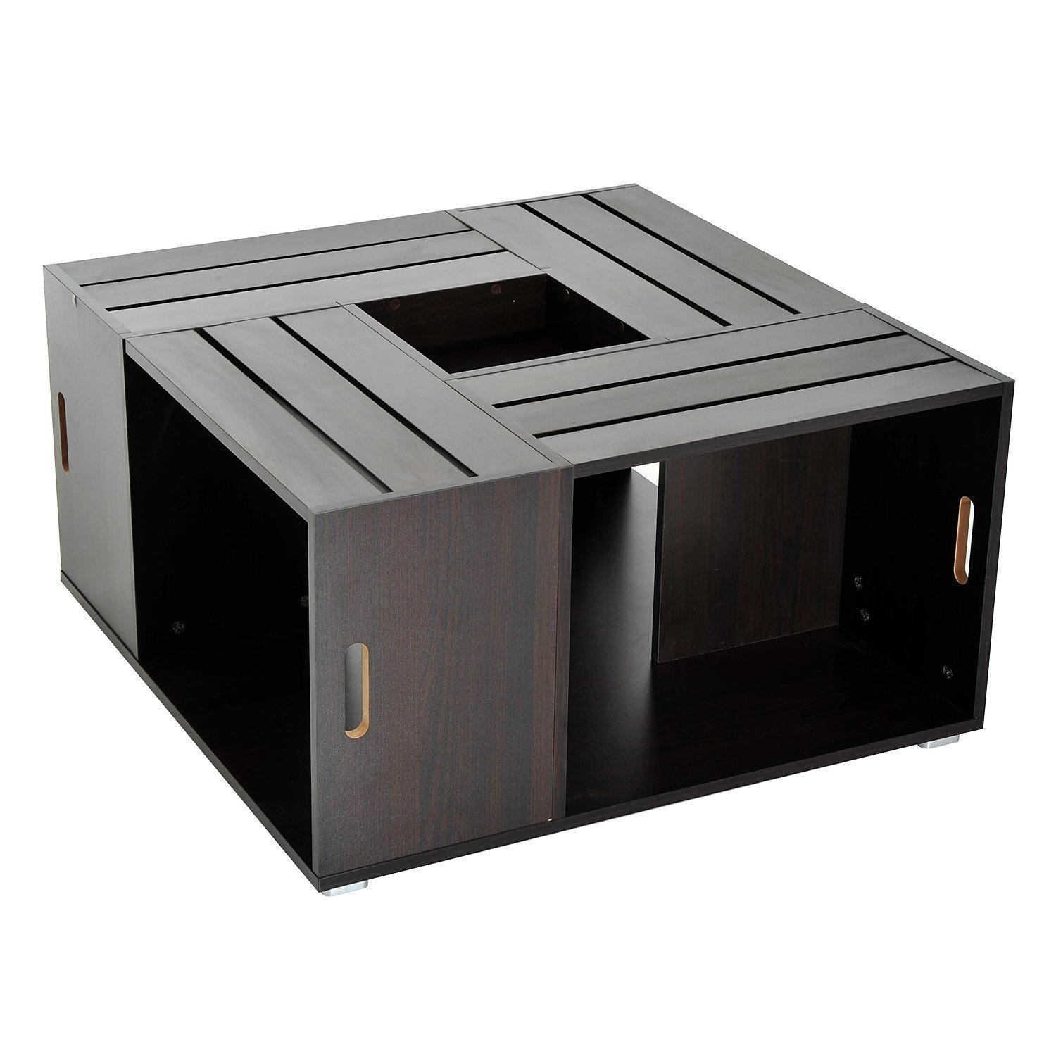 Signature Design By Ashley T628 2 Rollins Square End Table: Square Coffee Table With Storage