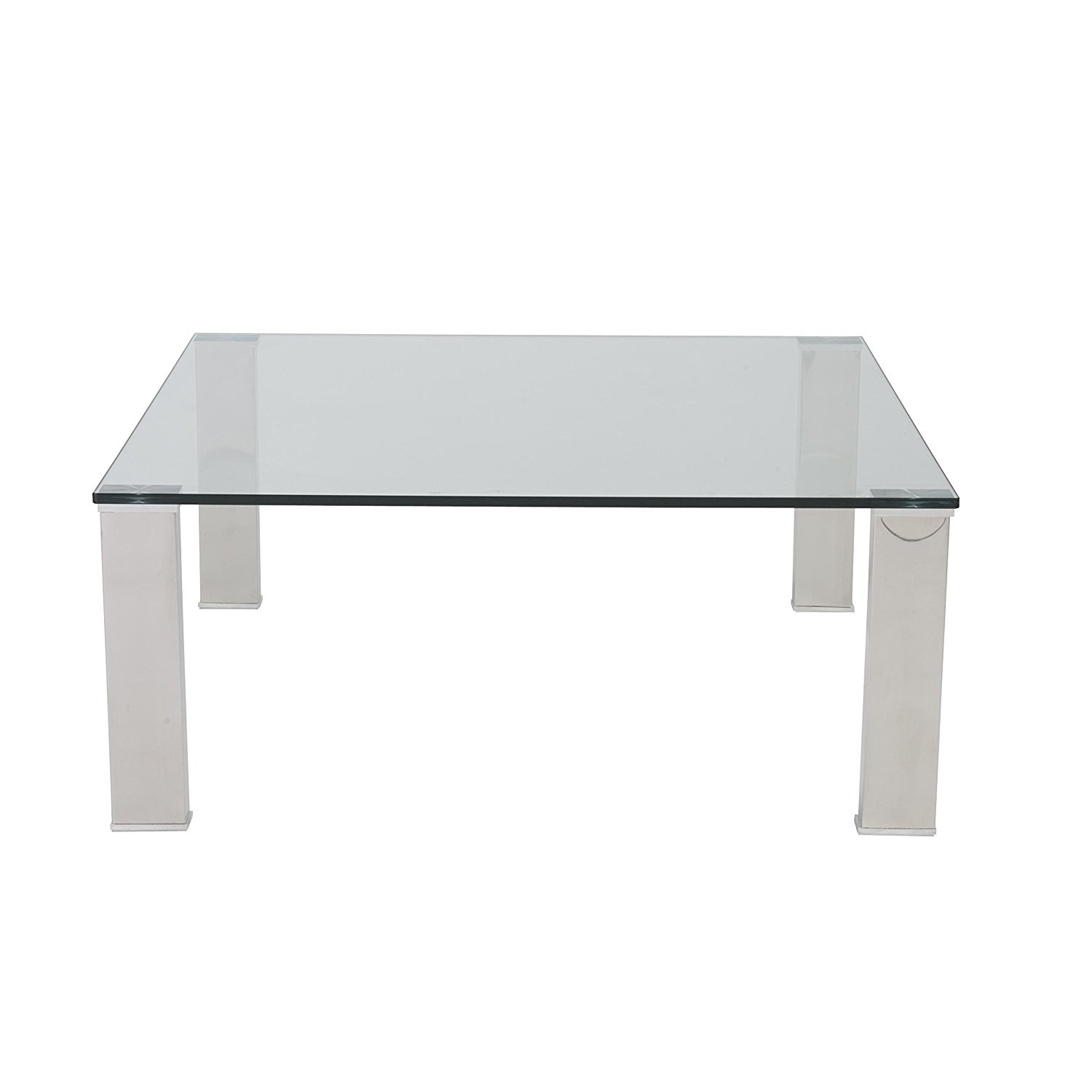 Signature Design By Ashley T628 8 Rollins Square Cocktail: Square Glass Top Coffee Table