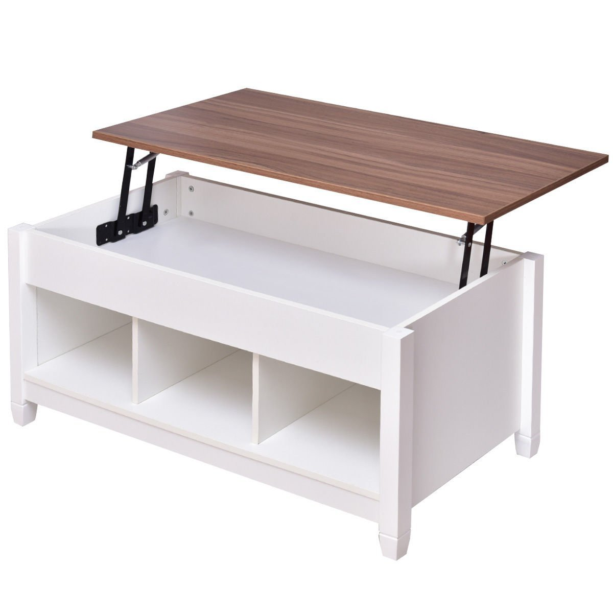White Lift Top Coffee Table Home Furniture Design