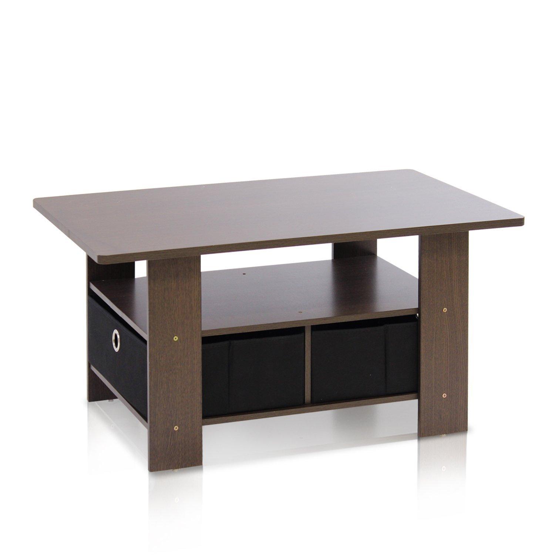 Dark Wood Coffee Table Set