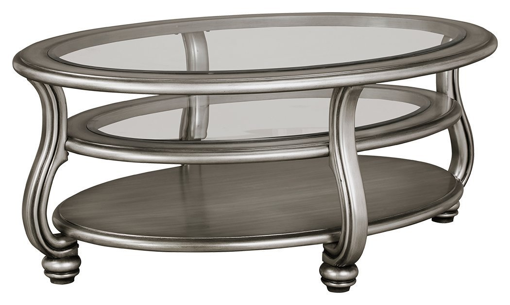 Silver And Glass Coffee Table Home Furniture Design