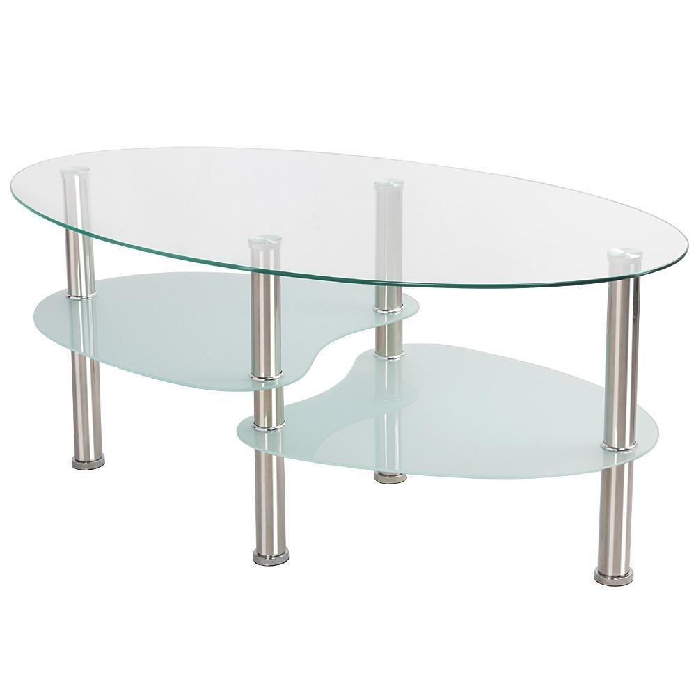 Silver Metal Coffee Table