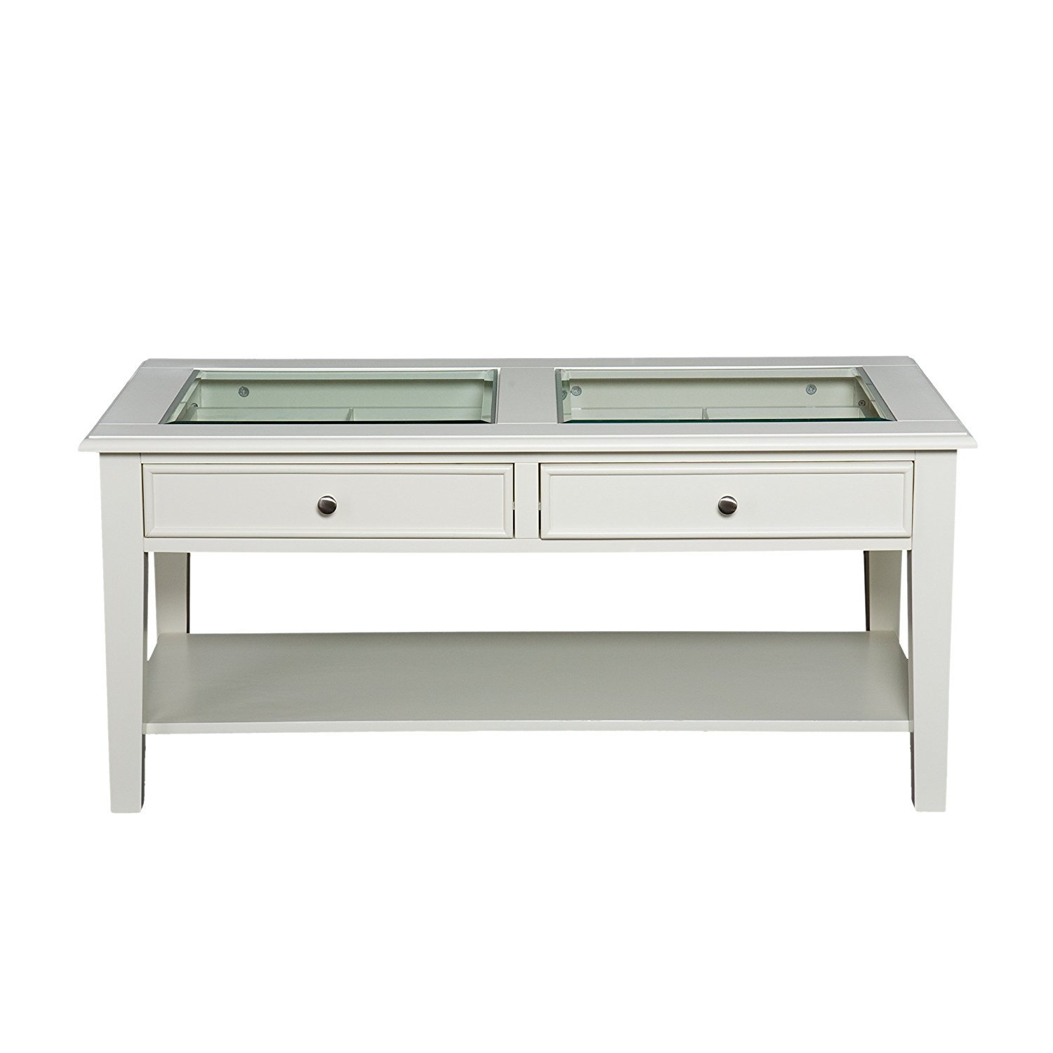 white coffee table with wood top home furniture design. Black Bedroom Furniture Sets. Home Design Ideas