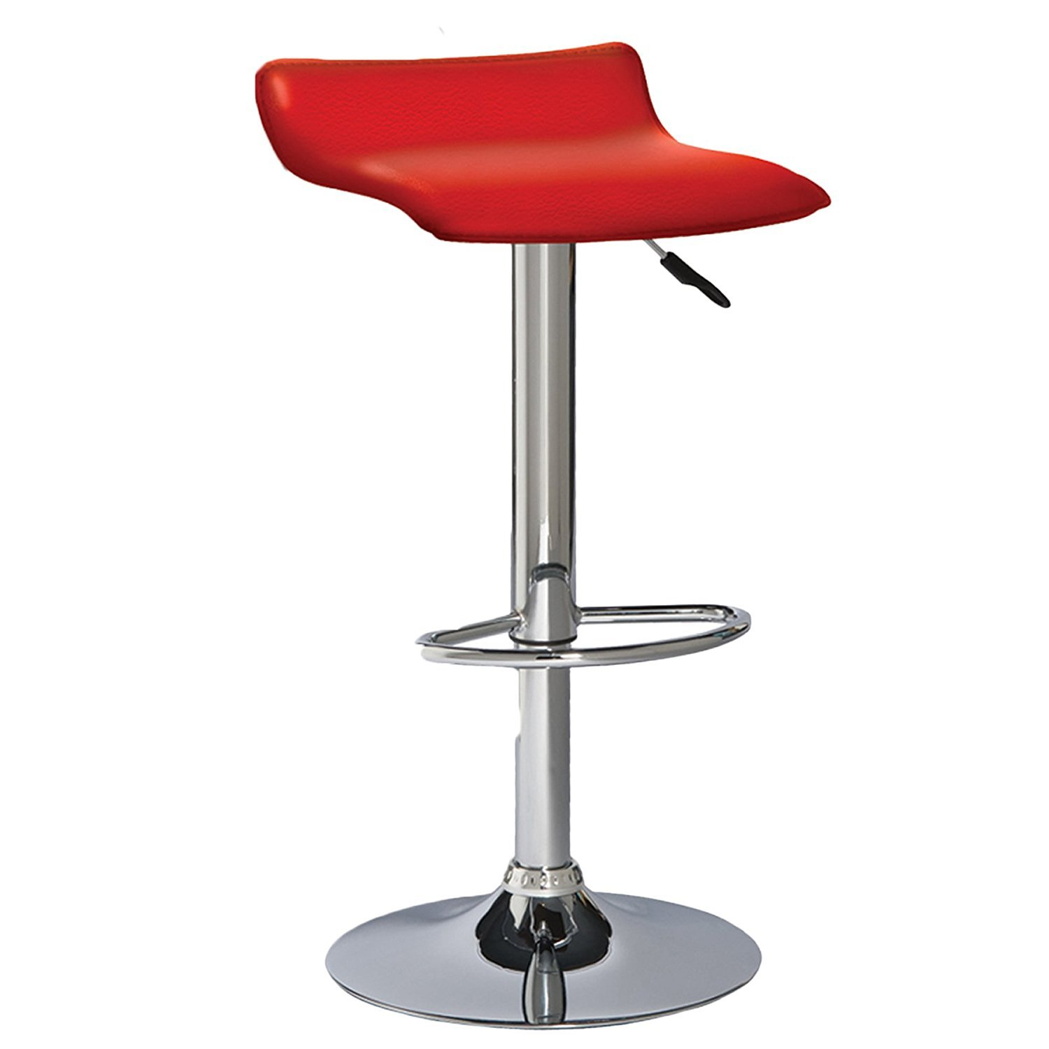 Leick Red Adjustable Height Swivel Bar Stool Home