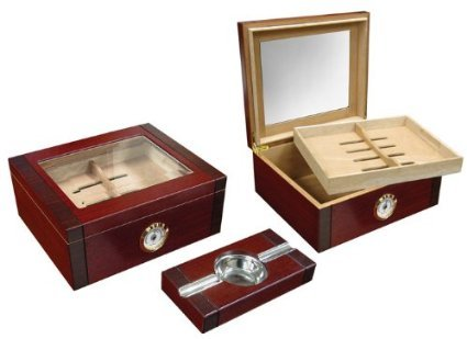 Sovereign Rosewood Glass Top Humidor Amp Ashtray Set Home