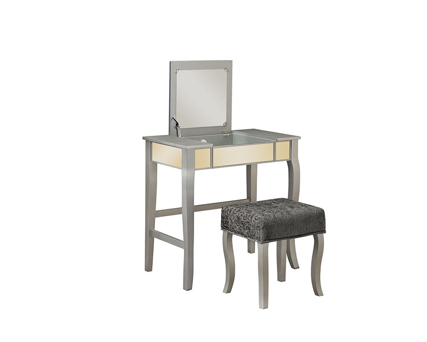 Silver vanity table home furniture design for Silver vanity table