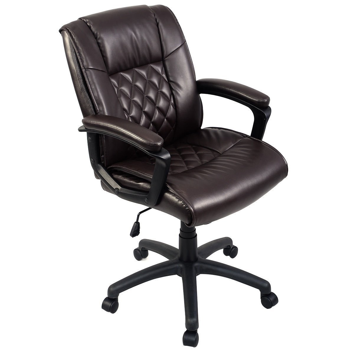 Giantex Ergonomic Pu Leather Mid Back Executive Computer