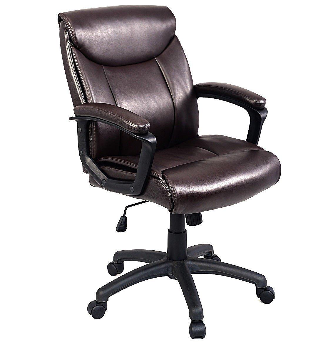 Giantex Ergonomic Pu Leather Mid Back Executive Computer
