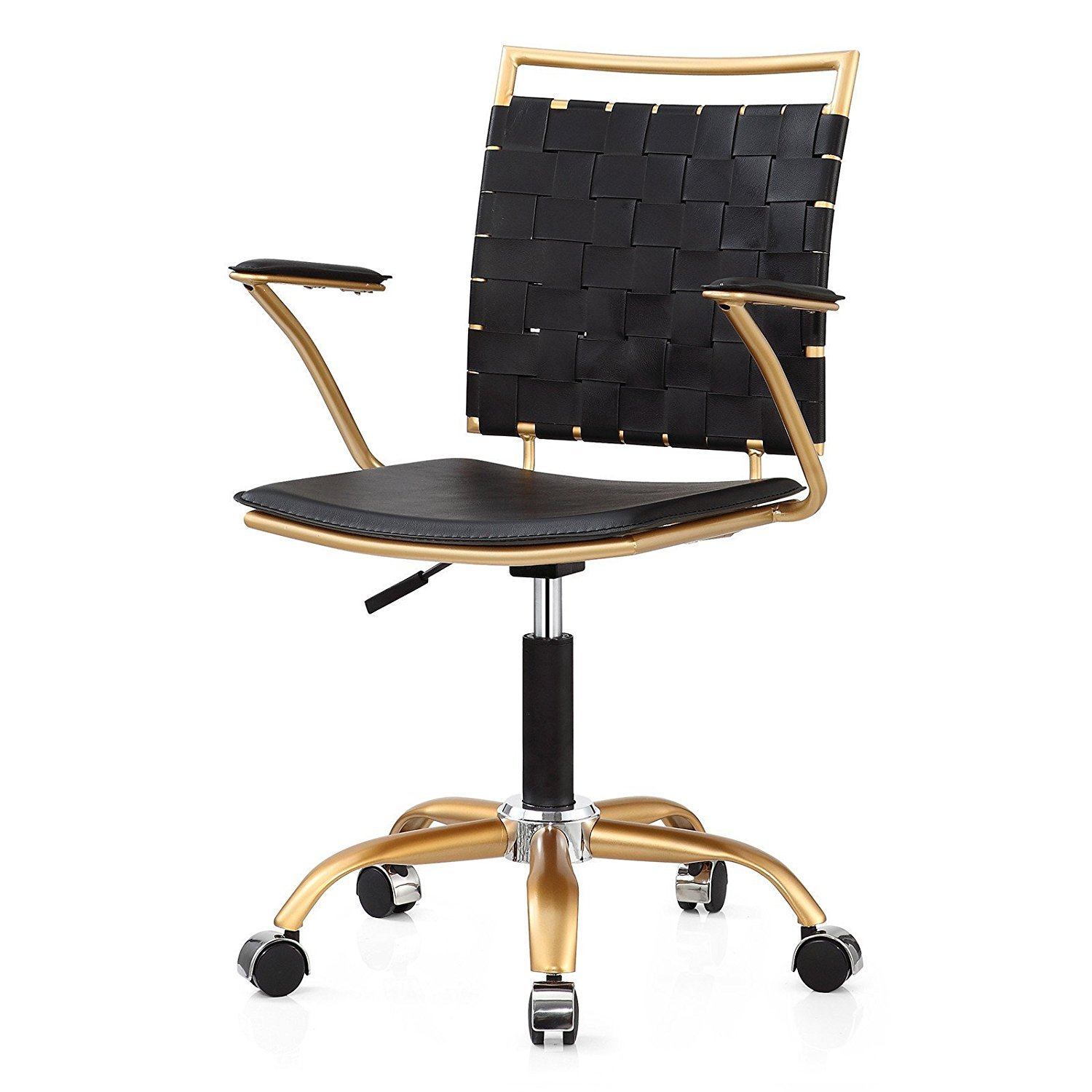 M356 Gold Finish Modern Office Chair Home Furniture Design
