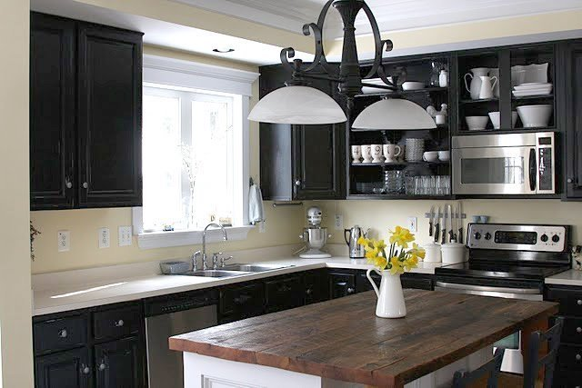 black paint for kitchen cabinets black kitchen cabinets pictures home furniture design 12427