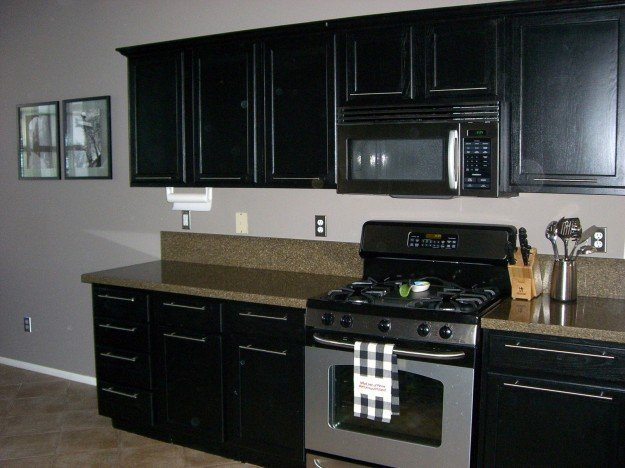 dark painted kitchen cabinets painting black kitchen cabinets home furniture design 6450
