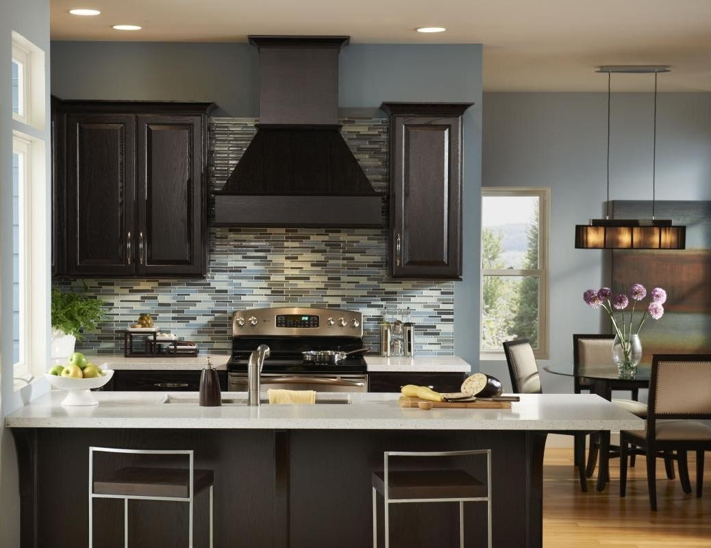 colors for kitchens with dark cabinets kitchen wall colors with cabinets home furniture design 9438