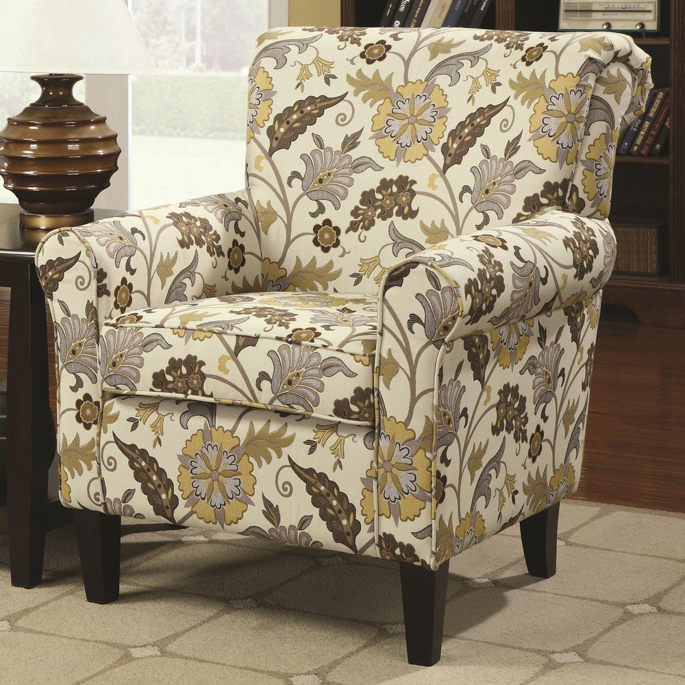 Floral Accent Chair For Living Room