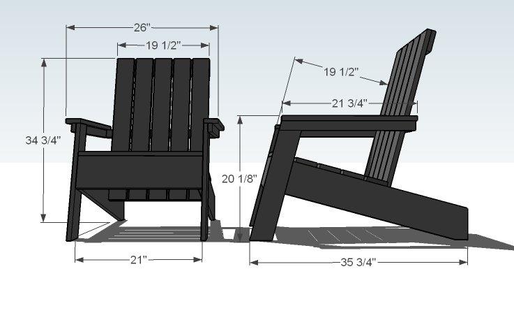 Modern Adirondack Chair Plans - Home Furniture Design