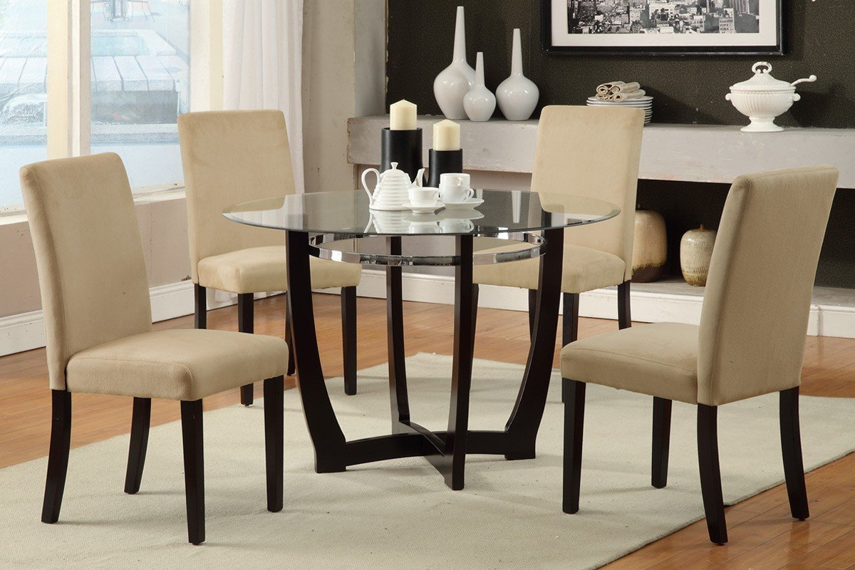 glass dining room table set round glass dining room table sets home furniture design 8634