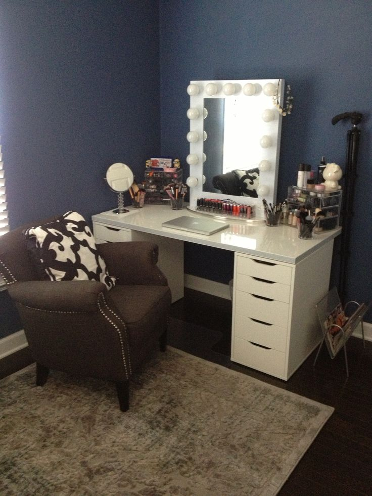 Vanity Desk With Mirror Ikea Home Furniture Design