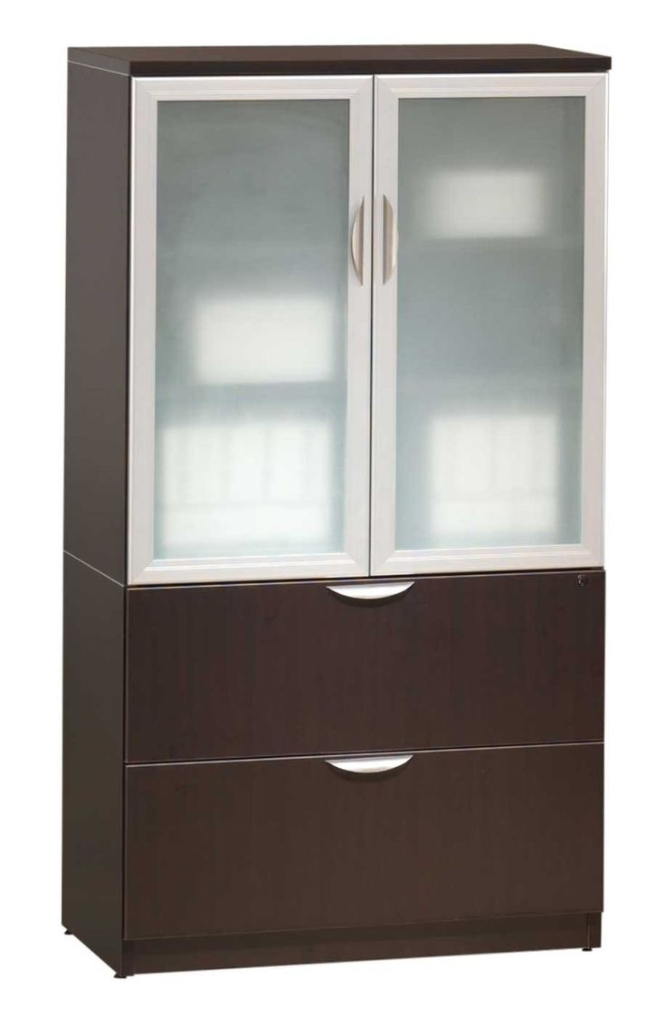 Wood Storage Cabinets with Glass Doors - Home Furniture Design