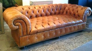 Chesterfield Tufted Leather Sofa - Home Furniture Design