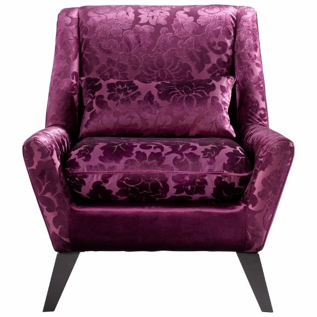 Purple Accent Chair Home Furniture Design