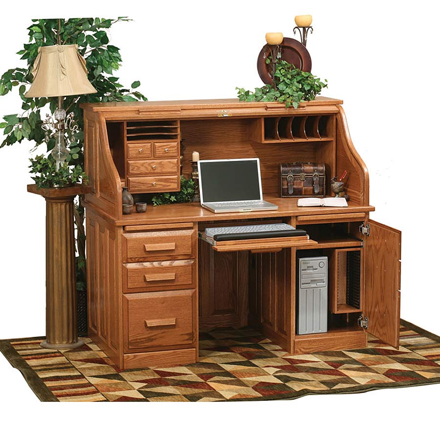 Roll Top Computer Desk