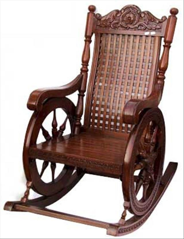 Antique Wood Rocking Chair Home Furniture Design