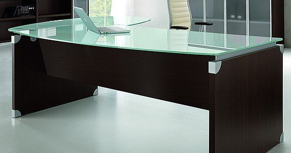 Glass Top Executive Desk Home Furniture Design