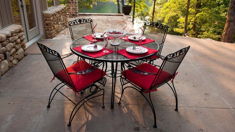 Outdoor Cushions for Wrought Iron Furniture - Home ...