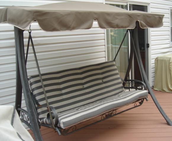Outdoor Swing Cushions With Backs Home Furniture Design