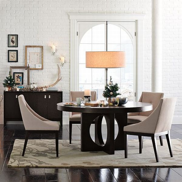 Modern Farmhouse Exterior: Black Formal Dining Room Sets