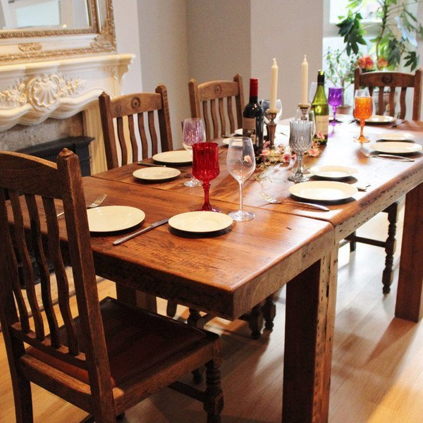 Modern Farmhouse Dining Table With Bench