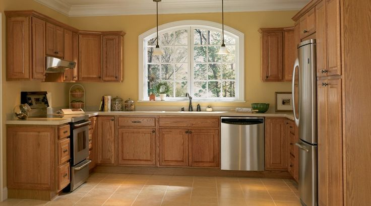 Kitchen Color Schemes with Oak Cabinets - Home Furniture ...