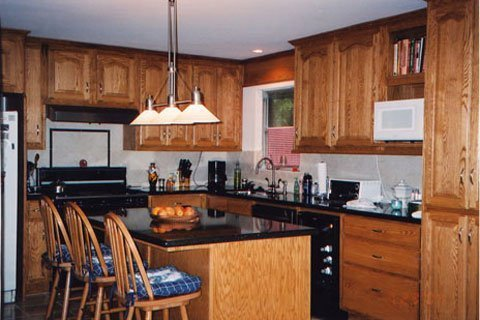 red oak kitchen cabinets oak kitchen cabinets home furniture design 4595