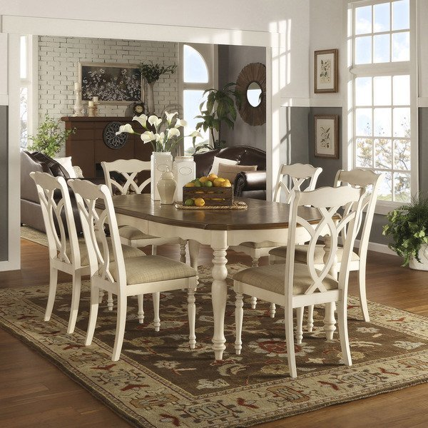 Antique White Dining Room Set Home Furniture Design